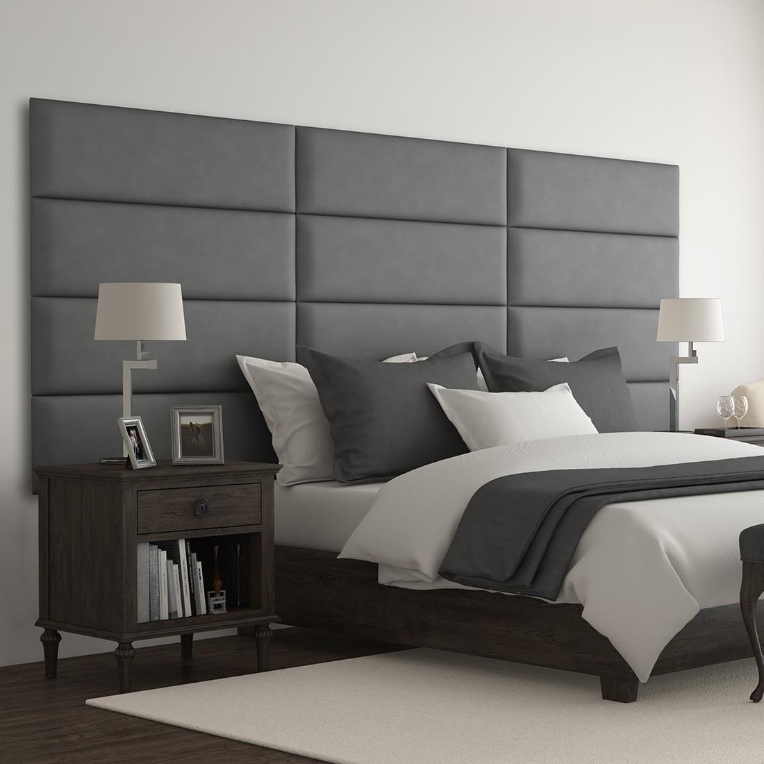 Decoration Murale Pour Tete De Lit déco tête de lit capitonnée en cuir noir - panneaux décoratifs vant