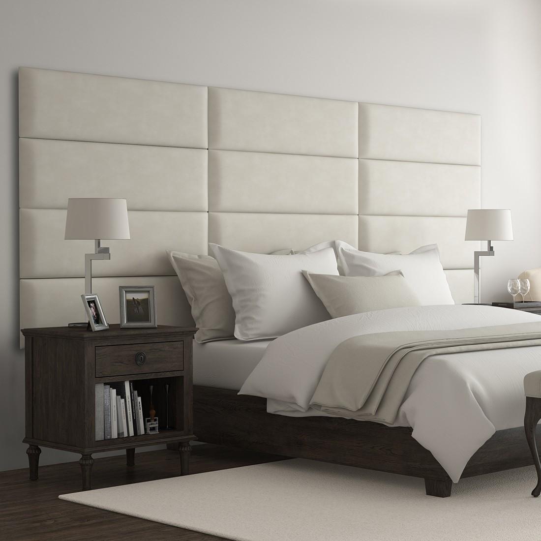 Decoration Murale Pour Tete De Lit panneau cuir pour tête de lit capitonnée | mur moelleux - panneau décoratif  vant