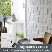 Panneau Murs 3D Squares