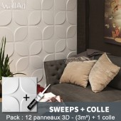 Pack Panneau Mural 3d Sweeps + colle