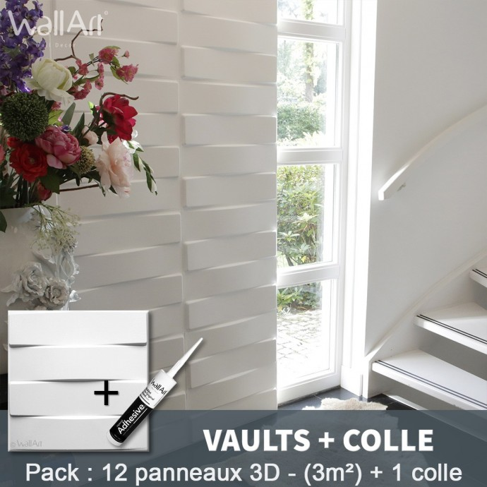 Pack Panneau Mural 3d Vaults + colle