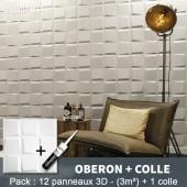 Pack Panneau Mural 3d Oberon + colle