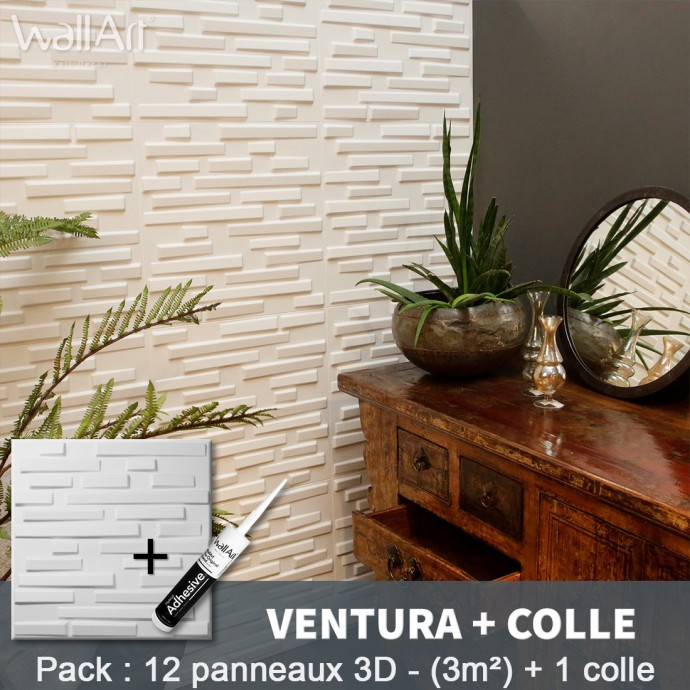 Pack Panneau Mural 3d Ventura + colle