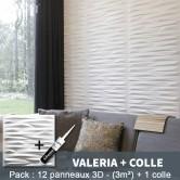 Pack Panneau Mural 3d Valeria + colle