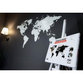 Carte du Monde Deco Murale 130X78cm Blanc