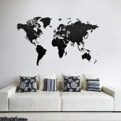 Carte du Monde Murale Noire