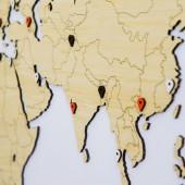 Carte du Monde Bois Bambou