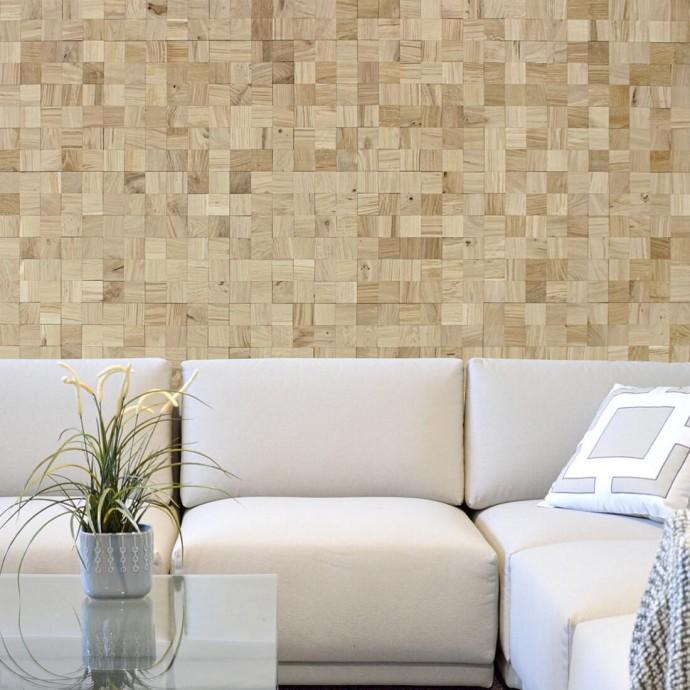 Panneau mural bois chêne naturel