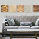 Panneaux muraux bois mosaique