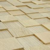 Plaque mosaïque bois