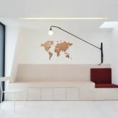 Carte du Monde Murale en Bois
