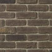 parement brique noir gris