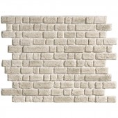 plaque imitation brique blanc cassé