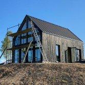 Maison Bois Brulé Extérieur