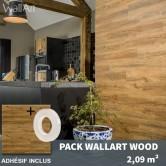 Revêtement mural pvc imitation bois