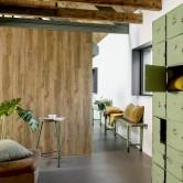 dalle pvc murale imitation bois vieilli
