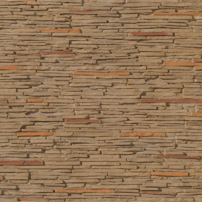 pierre couleur orange marron