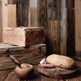 mur en bois vieilli