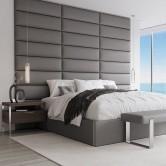 Tête de lit gris foncé