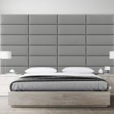 tete de lit capitonne gris clair