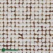 Panneau mural en noix de coco - Parement bois Cocomosaic White Patina