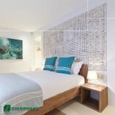 Tête de lit design - Parement bois Cocomosaic White Patina