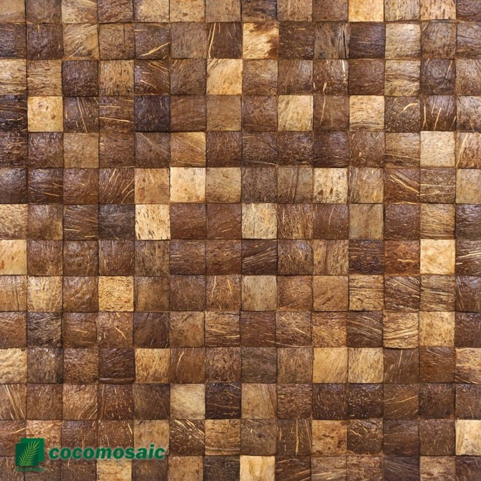 Panneau mural Cocomosaic - Parement bois Cocomosaic White Patina