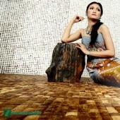 Panneau mural écologique - Parement bois Cocomosaic White Patina