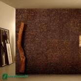 Déco murale maison - Parement bois Cocomosaic Espresso Bliss