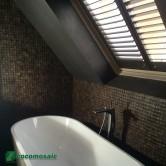 Revêtement mural salle de bain - Parement bois Cocomosaic Espresso Bliss