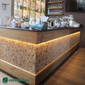 Décoration bar - Parement bois Cocomosaic Natural Bliss