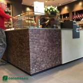 Panneau mural décoratif - Parement bois Cocomosaic Espresso Grain
