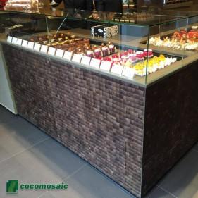 Décoration murale - Parement bois Cocomosaic Espresso Grain