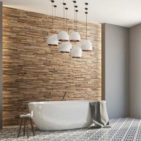 Panneau mural salle de bain - Parement Bois WoodWall Taiga