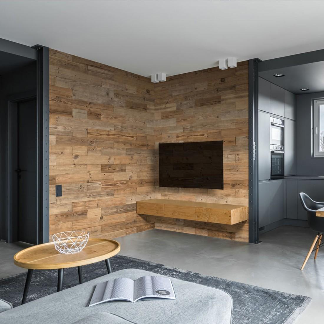 Idee Deco Pierre De Parement Interieur panneau mural bois nature : parement bois mural