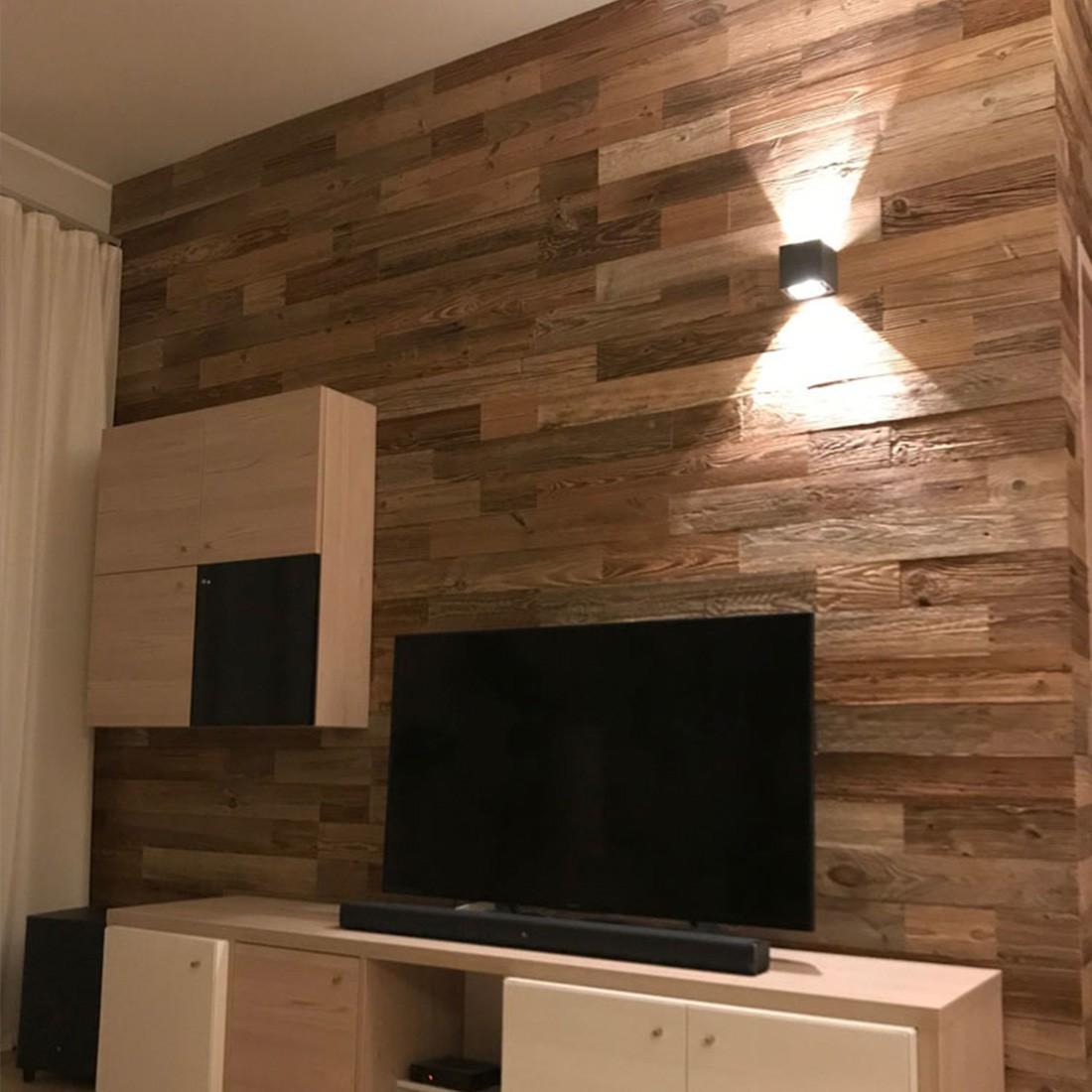 Mur En Parement Salon panneau mural bois nature : parement bois mural