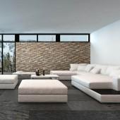 Déco murale salon moderne - Panneau Mural Bois Bravo