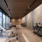 Décoration salle de sport - Panneau Mural Bois Massif