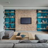 Déco salon moderne - Panneau Mural Bois Massif