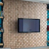 Mur TV - Panneau Mural Bois Massif