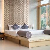 Tête de lit design - Panneau Mural Bois Massif