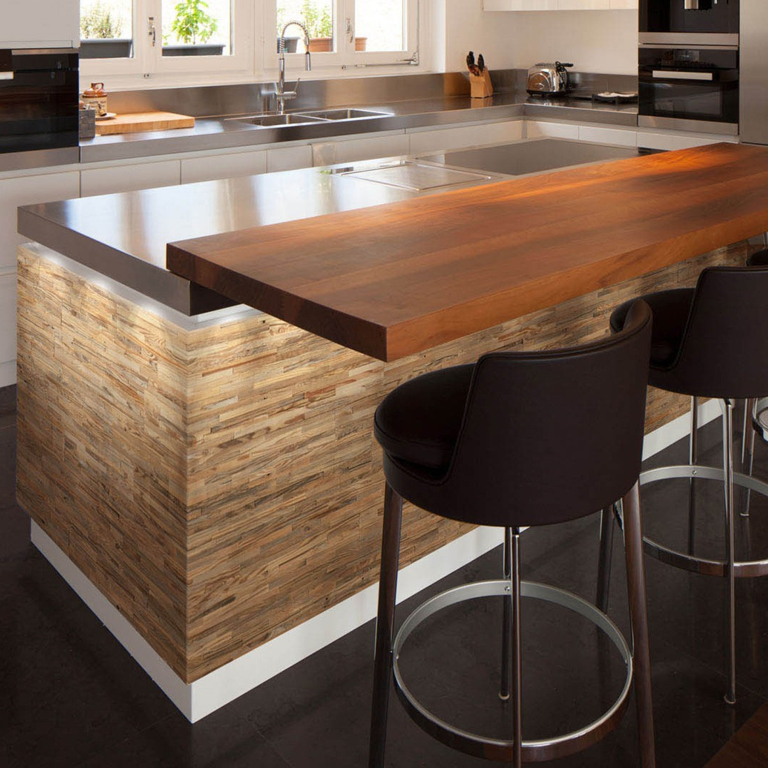 Comment Habiller Un Bar De Cuisine panneau mural bois bois brut : parement bois recyclé