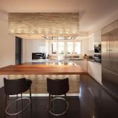 Décoration cuisine moderne - Panneau Mural Bois Brut
