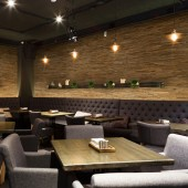 Déco Restaurant - Panneau Mural Bois Brut