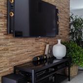 Mur télévision - Panneau Mural Bois Brut