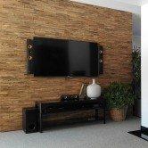 Mur TV salon - Panneau Mural Bois Brut