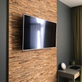 Mur télévision salon moderne - Panneau Mural Bois Brut