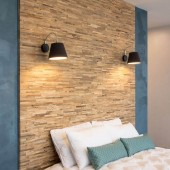 Tête de lit tendance - Panneau Mural Bois Brut