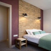 Chambre cosy - Panneau Mural Bois Brut