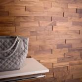 Mur en bois - Revêtement Mural Bois Noyer Huilé